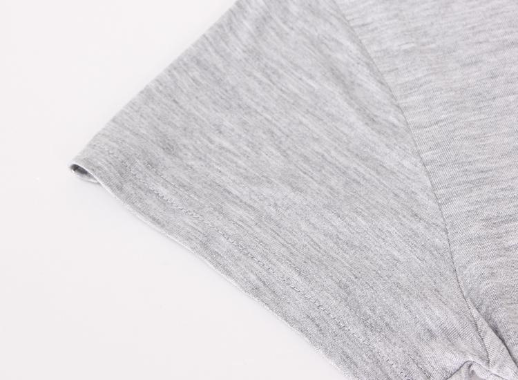 夏季女士半袖圆领莫代尔棉短袖t恤 休闲宽松大码纯色打底衫上衣女