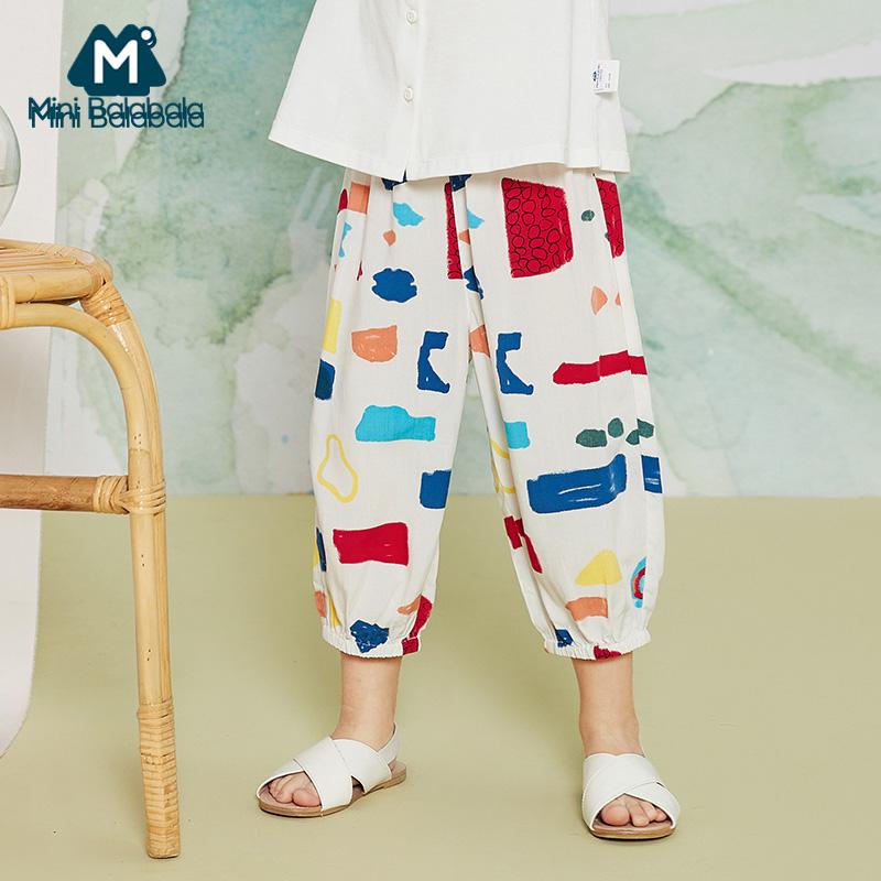 迷你巴拉巴拉女童防蚊裤长裤2020夏装新品薄款宽松柔软裤子亲子装