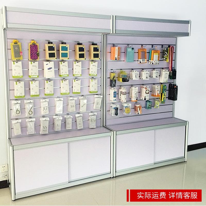 欣雪手机配件柜饰品店挂件货架内衣袜子展示架电脑展柜槽板展示柜