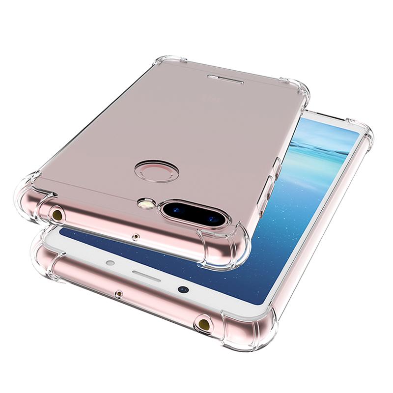 小米红米6手机壳6pro防摔红米6A保护套note5软硅胶全包透明男女a