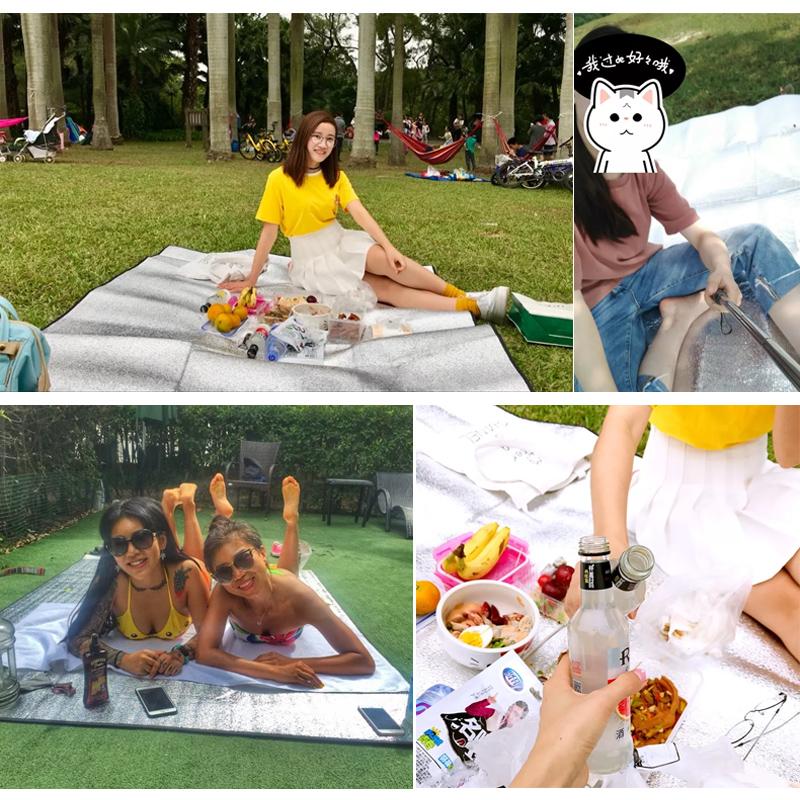 露营铝膜防潮垫单人宿舍学生野餐垫睡垫布帐篷户外家用野炊地垫子
