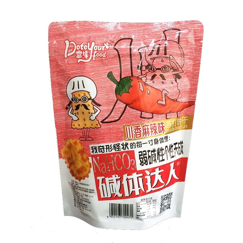袋梳打薄脆芝士咸味葱香味味零食 7 200g 碱体达人 鼎缘苏打饼干