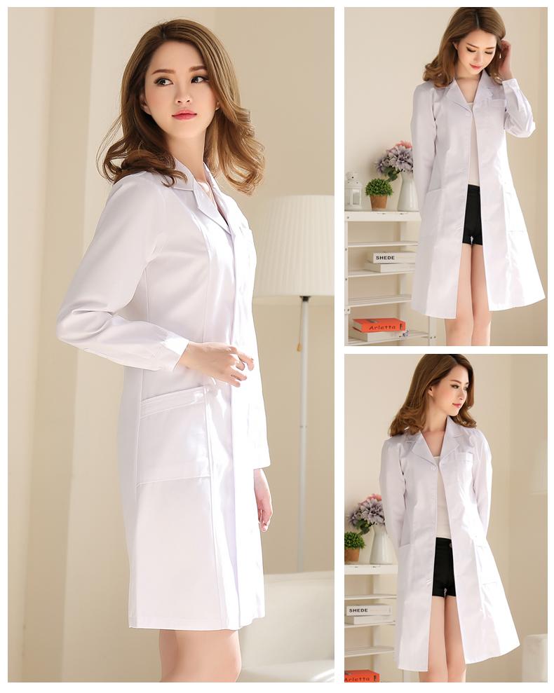 白大褂长袖医生服女短袖衣实验服大学生化学美容院师护士服工作服