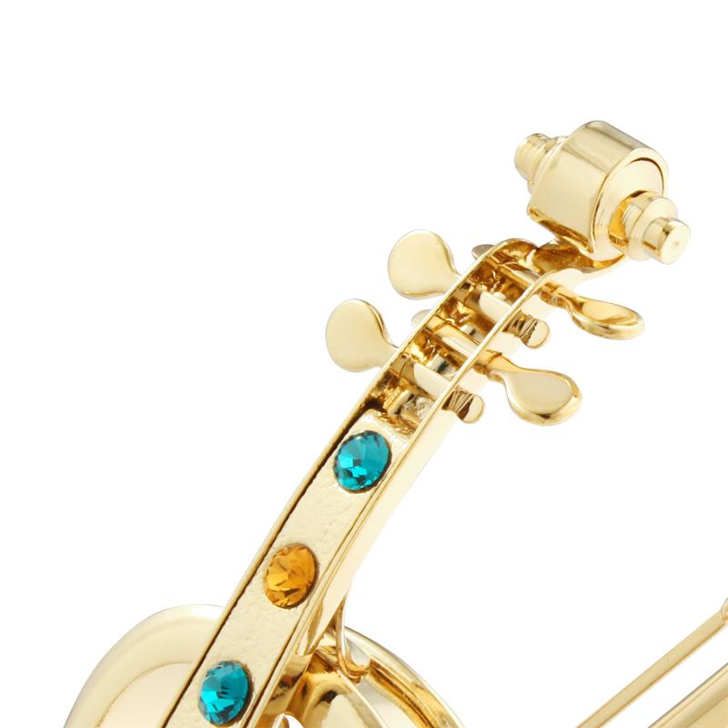 卡斯杜克水晶小提琴音乐盒旋转八音盒生日圣诞节礼物送女朋友