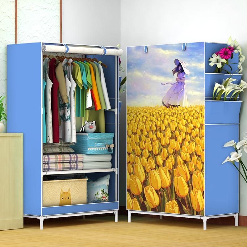 简易宿舍单人衣橱简约现代寝室学生小号布衣柜钢管加粗加固经济型