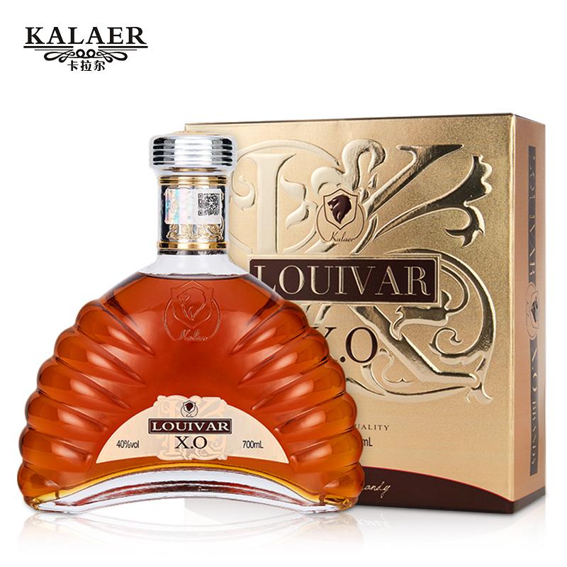 婚宴礼盒装 brandy 度 40 酒吧烈酒 700ml 洋酒白兰地 xo 法国 于荣光代言