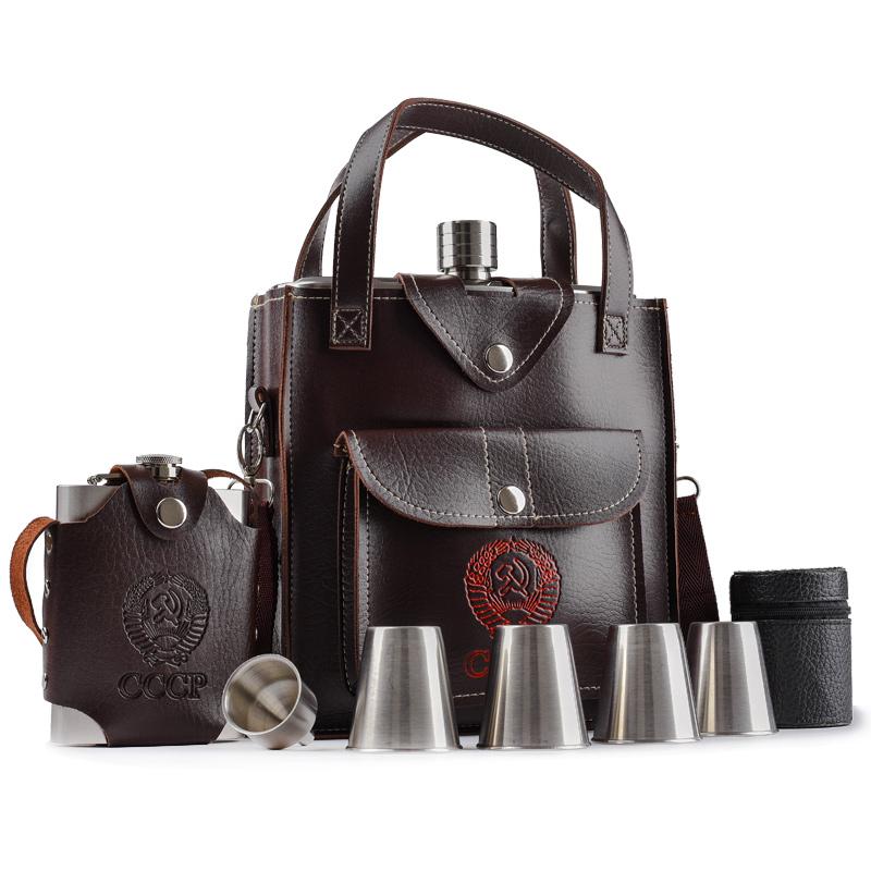 不锈钢酒壶5斤便携加厚户外随身酒瓶88盎司2.5公斤俄罗斯酒具高档