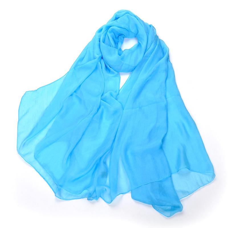 超大夏季沙滩巾防晒纱巾纯色围巾春季女丝巾长款百搭功能海边披肩