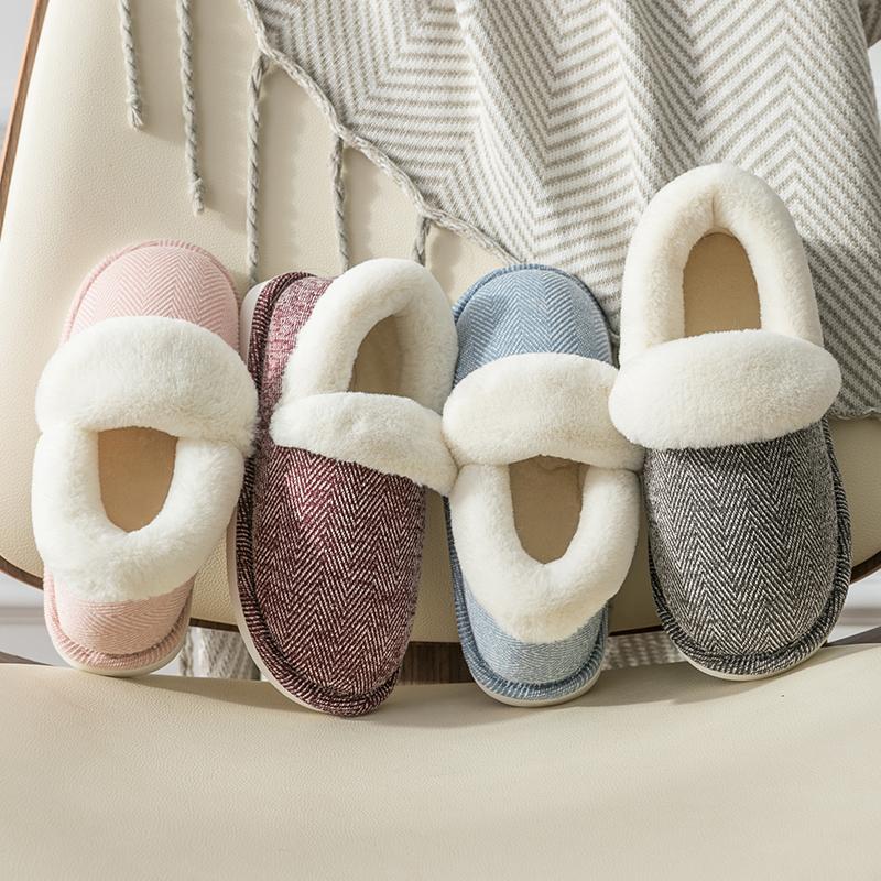 棉拖鞋女包跟家用室内厚底毛毛绒月子鞋女士居家居产后棉鞋秋冬季
