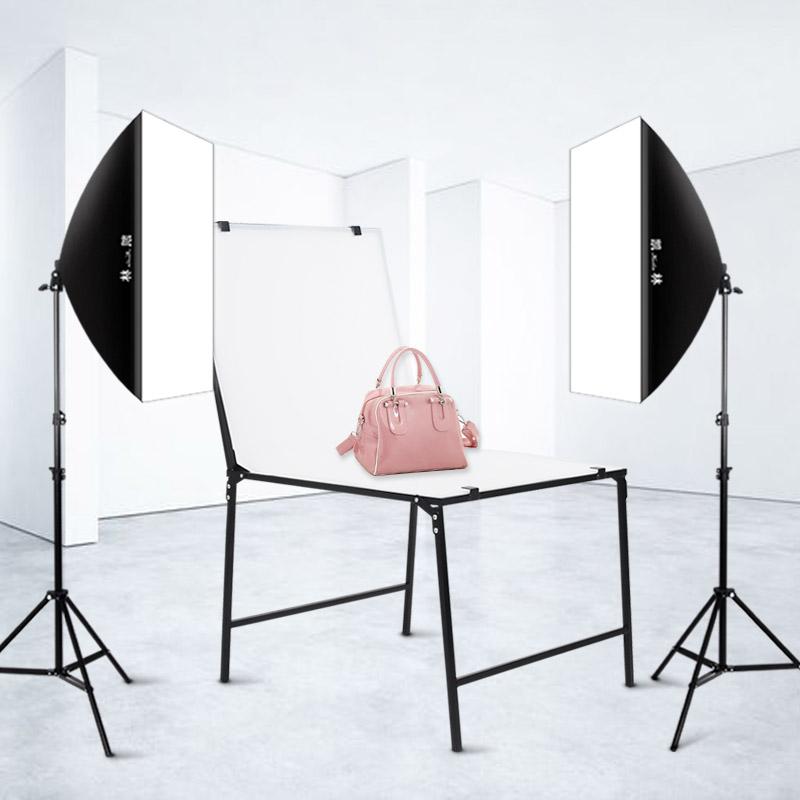 凯林LED105W双灯摄影灯套装单灯柔光箱服装常亮灯拍摄主播直播美颜拍照灯补光灯打光简易小型摄影棚