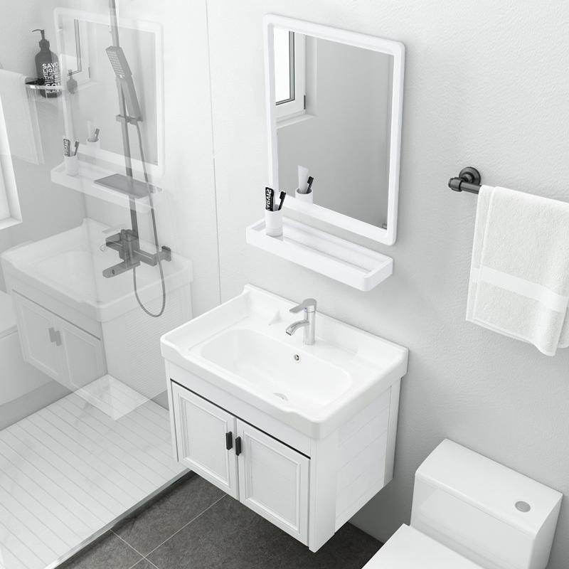 廁所洗手盆單盆池簡易小戶型衛生間洗漱臺盆一體家用洗臉盆柜組合