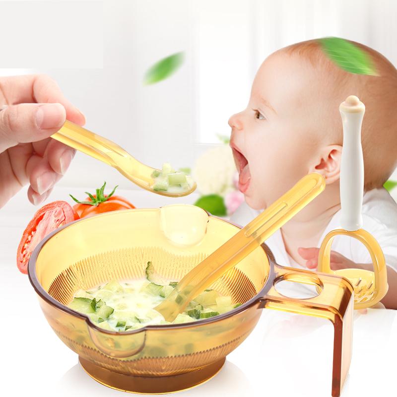 好伊贝宝宝辅食研磨器儿童研磨碗机棒套装便携婴儿手动过滤网榨汁
