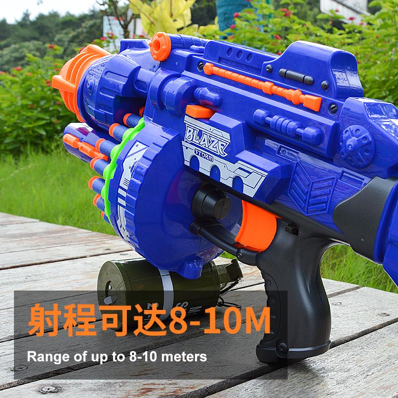 电动连发软弹枪儿童玩具枪狙击枪安全软子弹发射软蛋男孩玩具抢【图4】