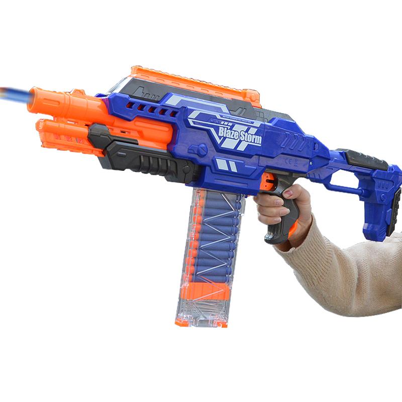 儿童电动玩具枪男孩软弹枪机关枪大容量弹仓3-4-6-7岁安全软子弹【图2】