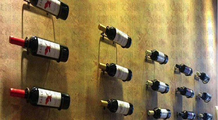 简易酒架铁艺壁挂红酒架餐厅仓储壁挂酒架葡萄酒专卖店壁挂展示架
