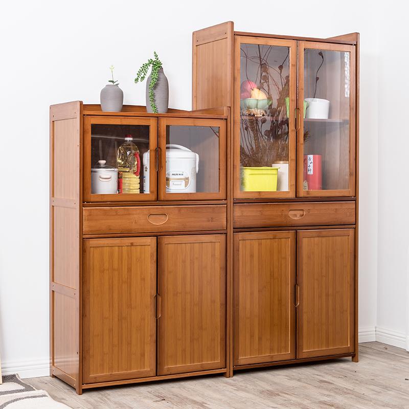诚享楠竹电器微波炉置物架实竹木餐边柜书柜文件柜储物收纳柜酒柜