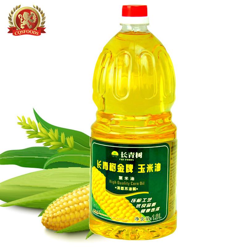 长青树玉米油1.8L食用油压榨粮油批发 可做烘培油 员工福利团购