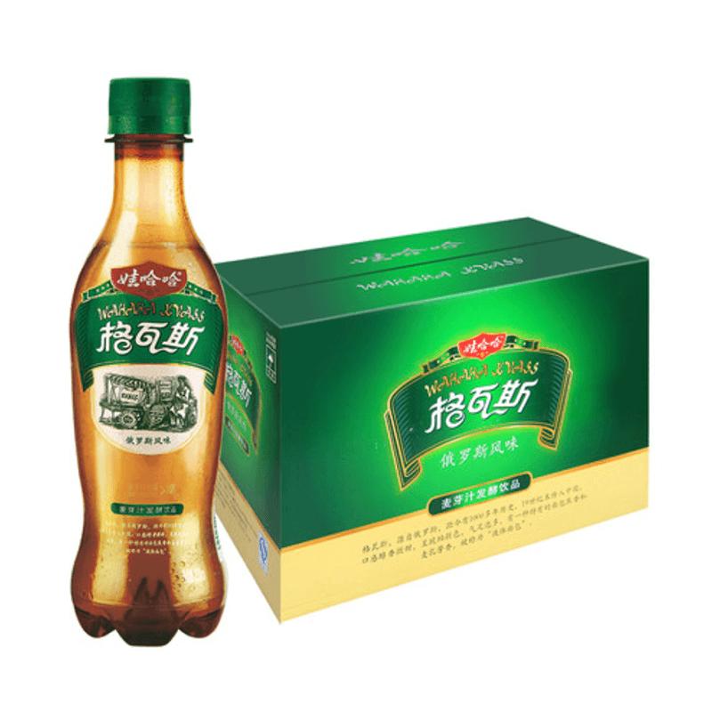 娃哈哈格瓦斯330ml*15瓶整箱批发 俄罗斯风味饮料 哇哈哈碳酸饮品