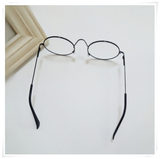 Korean version of children's glasses princess literature and art children flat eyes round eyes boys and girls baby no lens frame tide