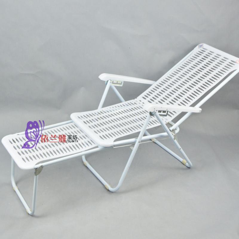 塑料折叠躺椅沙滩椅蓝白胶懒人睡椅夏凉椅午休陪护午休椅广东包邮