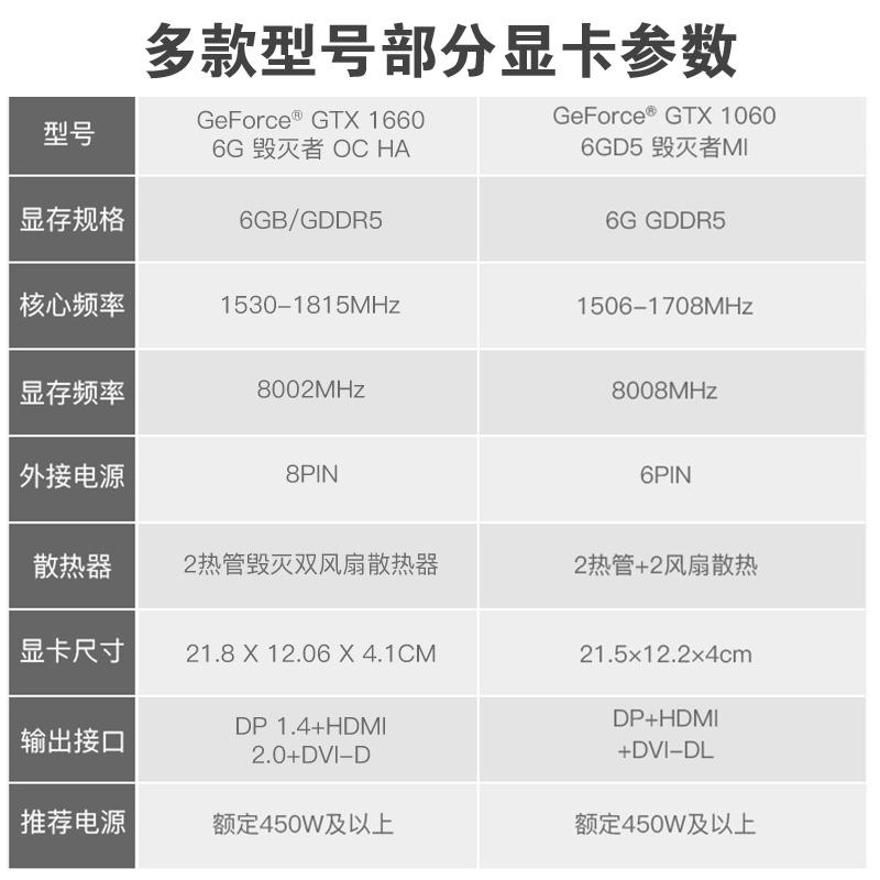 索泰GTX1060 x gaming oc 游戏显卡1660 gtx1066全新主机独立显卡