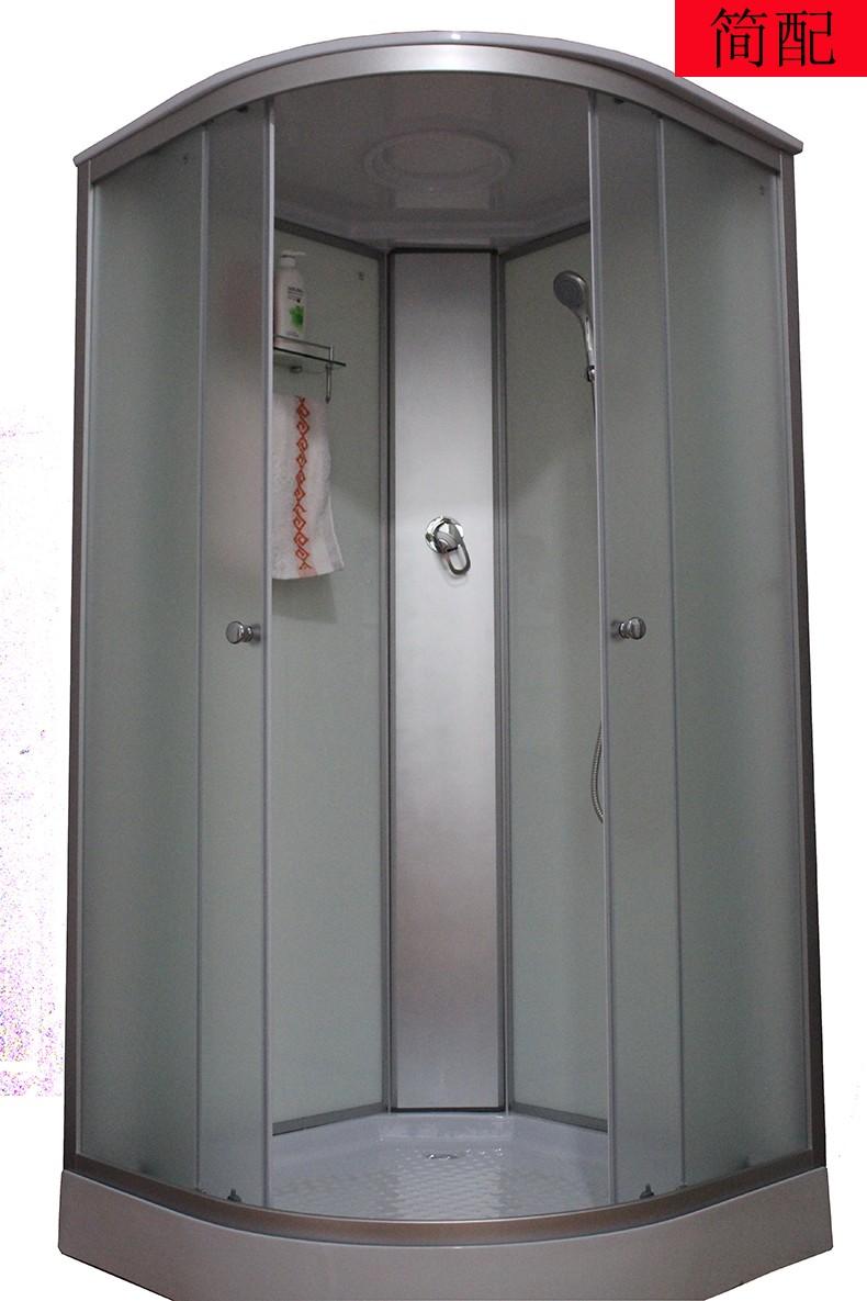 整体淋浴房一体式简易淋浴房整体浴室弧扇形钢化玻璃隔断封闭式