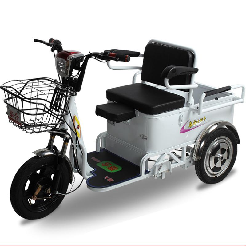 成人电动三轮车老年人女士三轮电动车老年三轮车接送孩子 爬坡王
