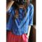 2019夏新女装日系糖果色棉麻文艺亚麻短款圆领中袖衬衫开衫上衣