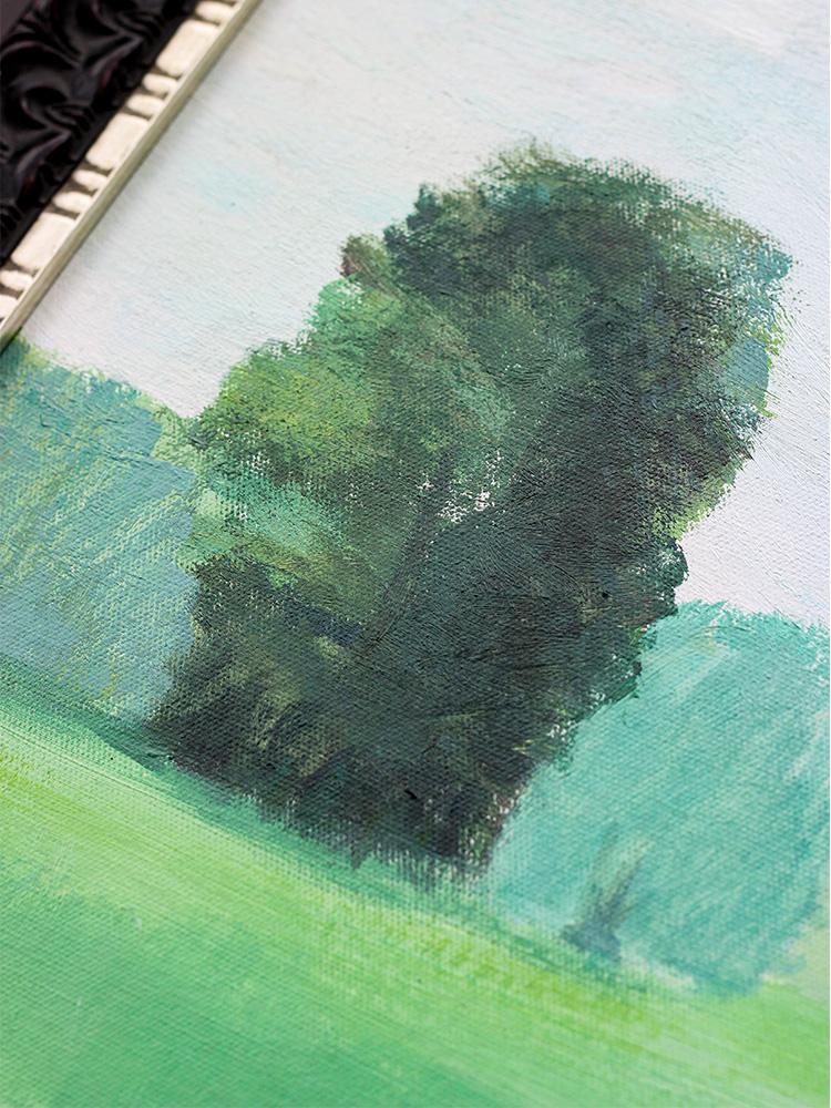 若奈犀牛藝廊《致橡樹》純手繪風景油畫綠色客廳藝術掛畫玄關餐廳