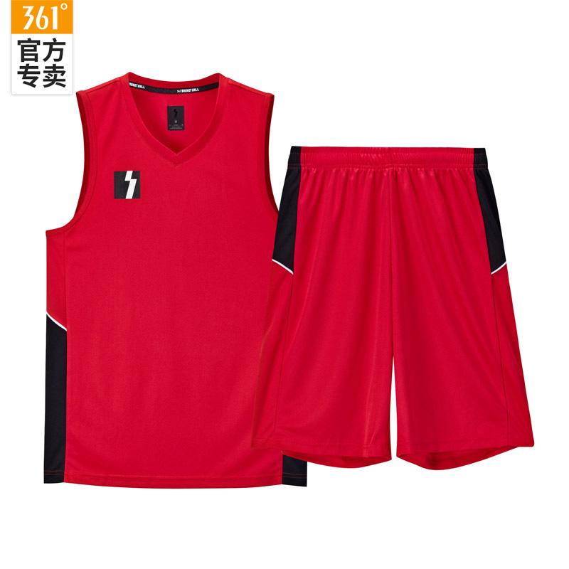 361度篮球服套装2020夏季新款背心短裤速干男装比赛运动球衣篮球