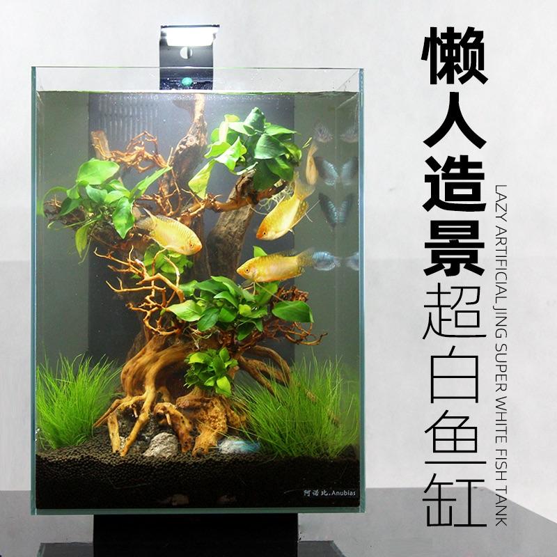 鱼缸小型家用桌面水草缸造景鱼客厅小型懒人免换水生态鱼缸水族箱
