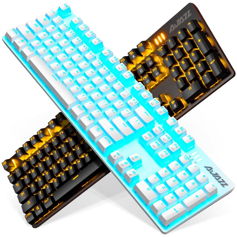 黑爵战警游戏真机械键盘青轴黑轴红轴茶轴台式电脑笔记本电竞有线104键全键无冲网吧吃鸡lol外接网红专用键盘