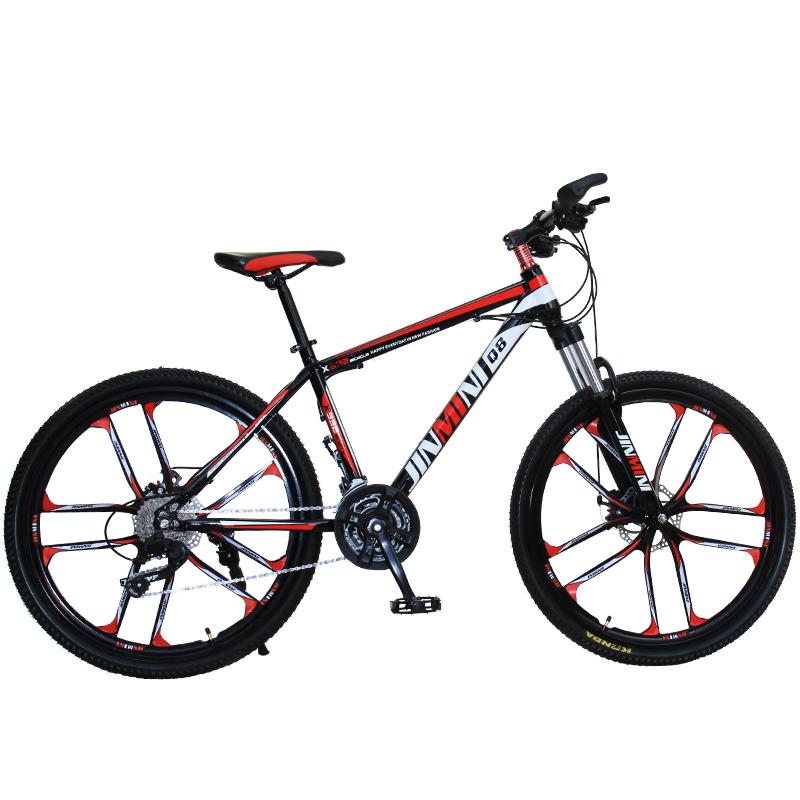 山地车男女成年人减震变速青少年学生轻便城市越野赛一体轮自行车