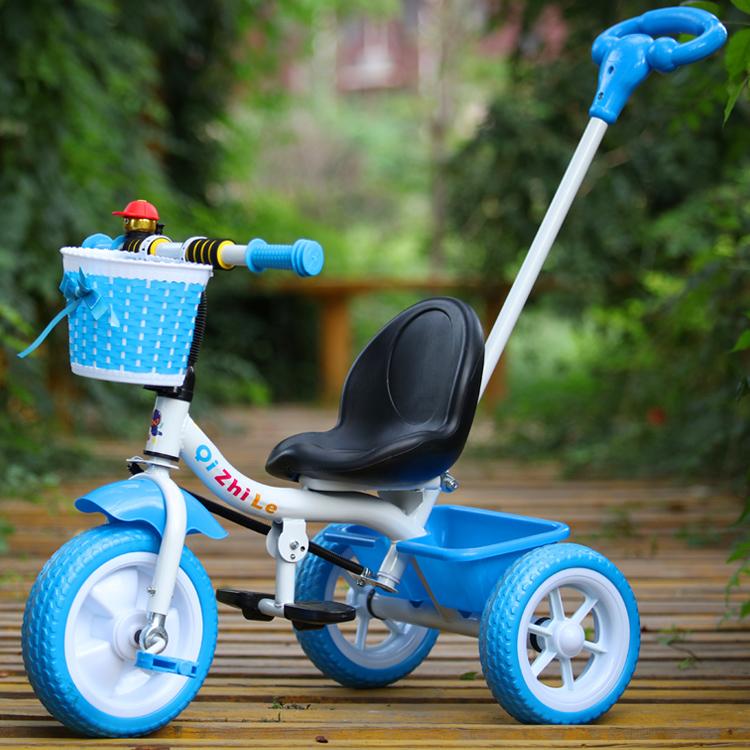新款儿童三轮车男女孩脚踏车小孩自行车宝宝手推车1-2-3-4-5岁