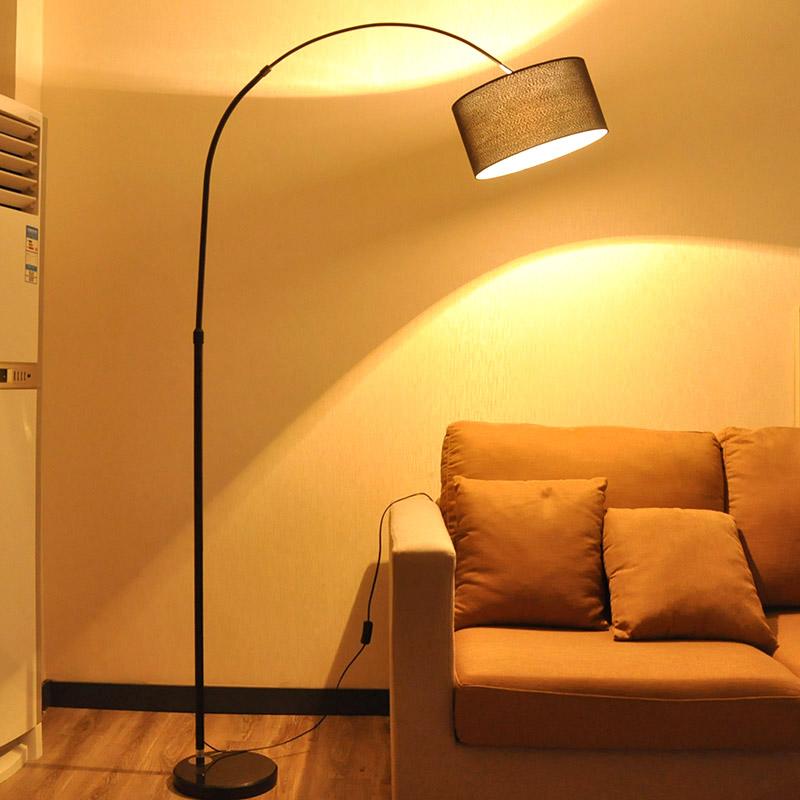 好莱仕LED落地灯时尚钓鱼客厅卧室书房创意麻将遥控北欧立式台灯