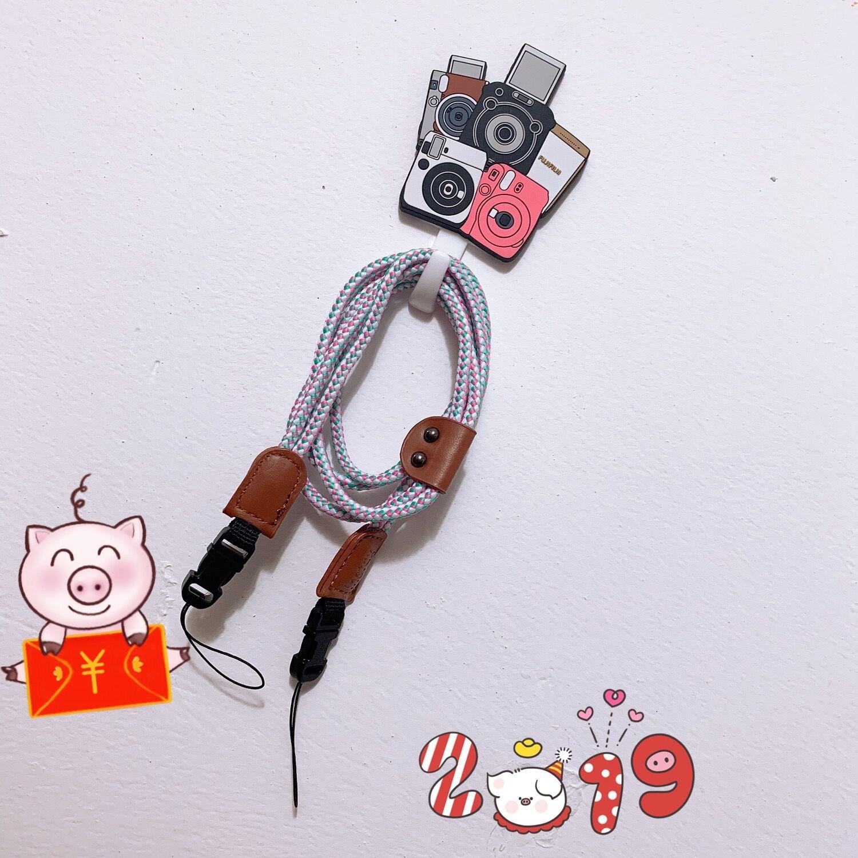 富士拍立得mini8/70/25/7s/50s/90 相機彩色背繩子小熊 揹帶