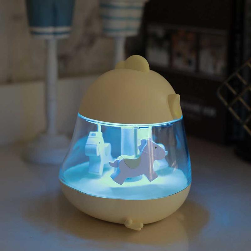 小夜灯创意男女友闺蜜孩子儿童生日礼物 LED 旋转木马音乐盒八音盒