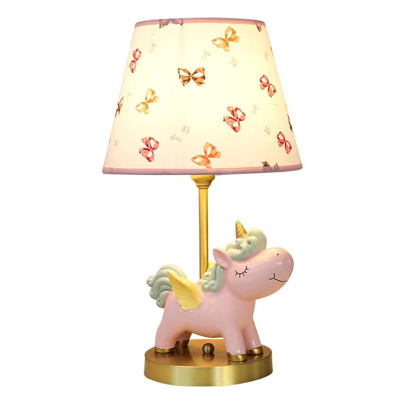 少女床头灯创意浪漫温馨儿童房可爱风独角兽卡通台灯 ins 台灯卧室