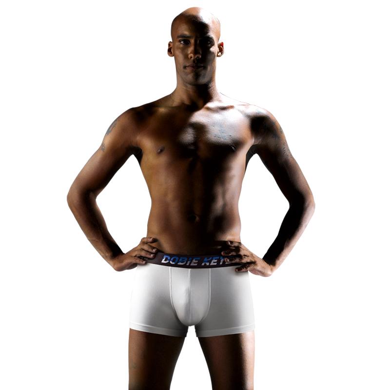 杜比骑士品质男士内裤纯棉裆平角裤男青年棉质金边姓感四角裤头