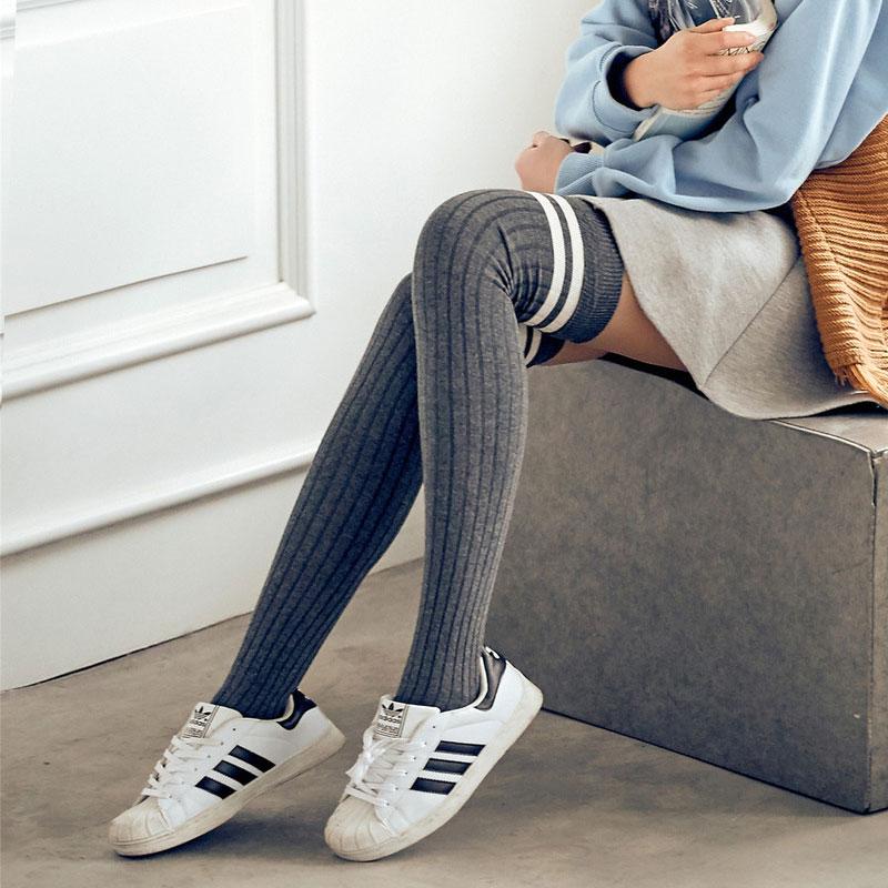 过膝袜春秋冬季日系棉高筒韩国学生学院大腿袜长筒中厚长丝袜女