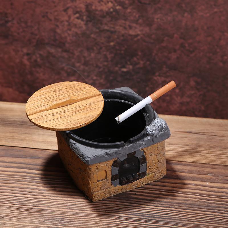 烟灰缸创意复古陶瓷欧式时尚个性办公室摆件酒吧咖啡厅装饰品水泥
