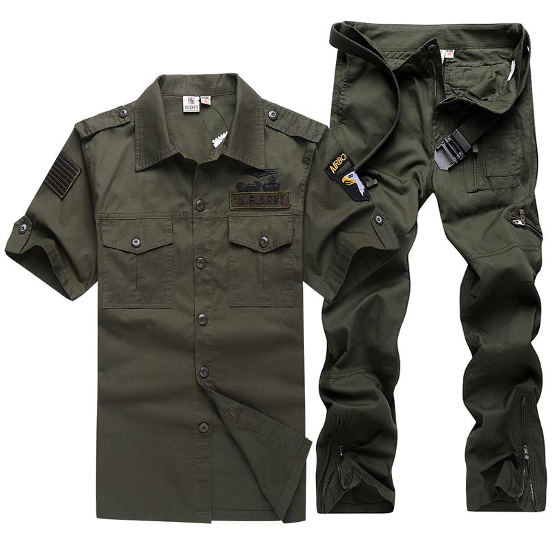 夏裝戶外登山迷彩服軍迷工作服軍迷短袖純棉作訓服套裝男薄款