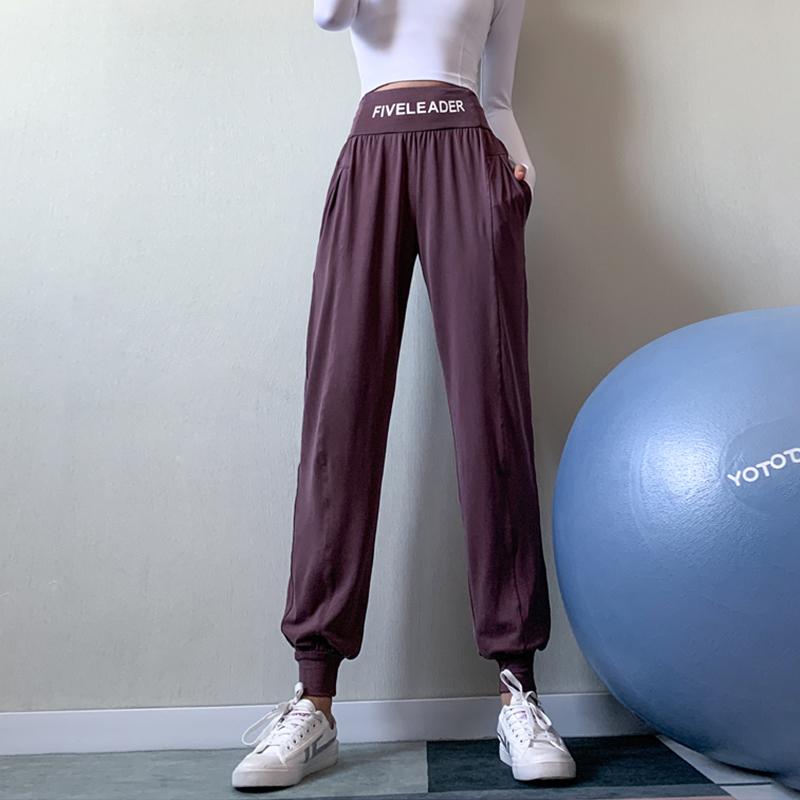 字母腰健身裤女提臀外穿瑜伽裤高腰弹力紧身蜜桃裤速干跑步运动裤