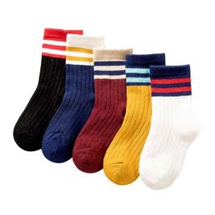 5双!A类纯棉保暖儿童袜