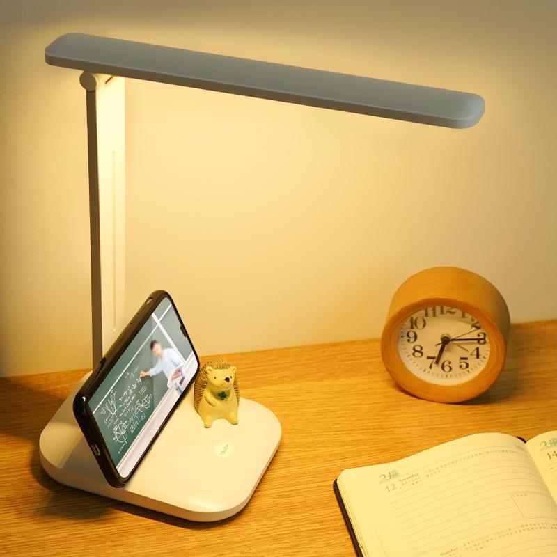 学习阅读儿童写字台风 LED 台灯护眼书桌学生充电插电两用宿舍寝室