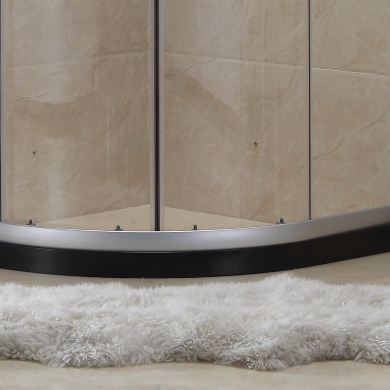 简易定做整体淋浴房卫生间移门玻璃房洗澡间隔断干湿分离浴屏包邮