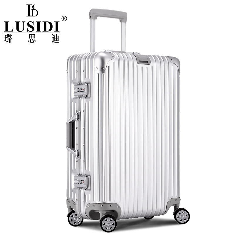 璐思迪鋁鎂合金拉桿箱鋁框旅行箱金屬行李箱24/20寸登機箱萬向輪
