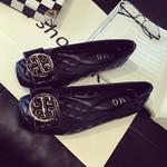 2018特价新款夏季黑色软底平底单鞋浅口方头40大码女鞋工作鞋41码
