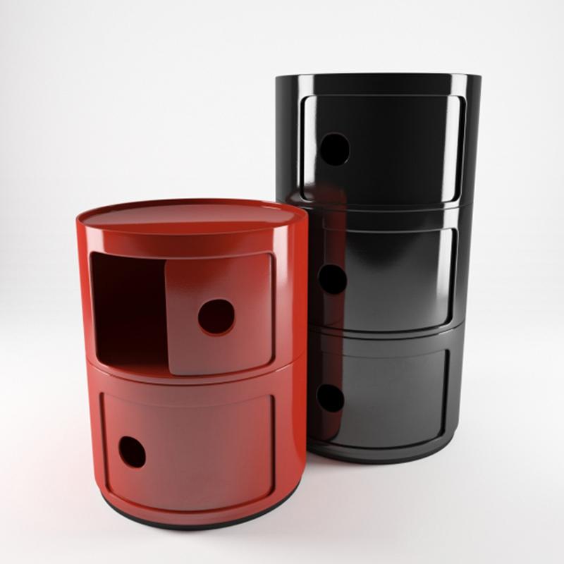 北欧儿童床头柜简约现代圆形储物柜卧室创意个性小ins网红收纳柜