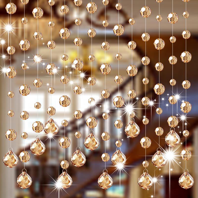 门帘隔断帘客厅玄关装饰珠链家用卫生间风水过道帘子新款水晶珠帘
